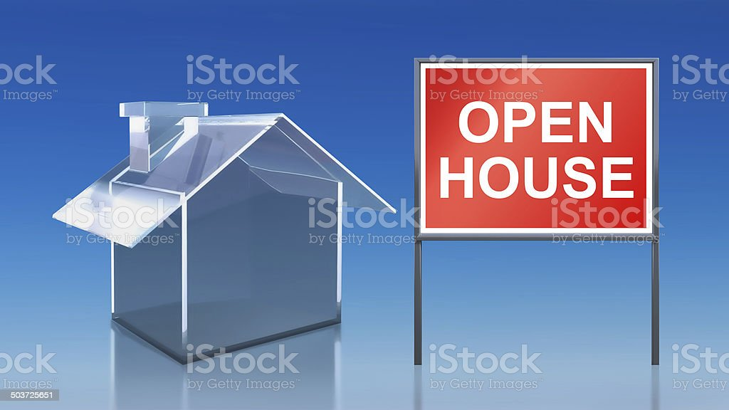 investment blue glass house open house royalty-free stock photo
