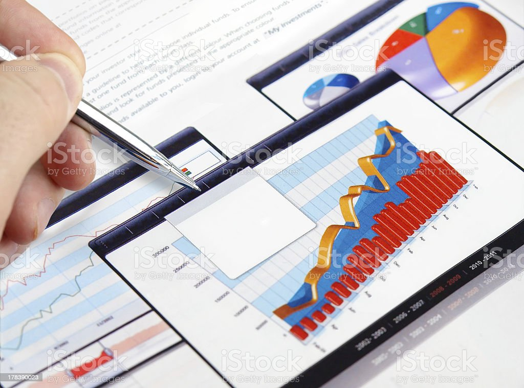 Investment Charts royalty-free stock photo