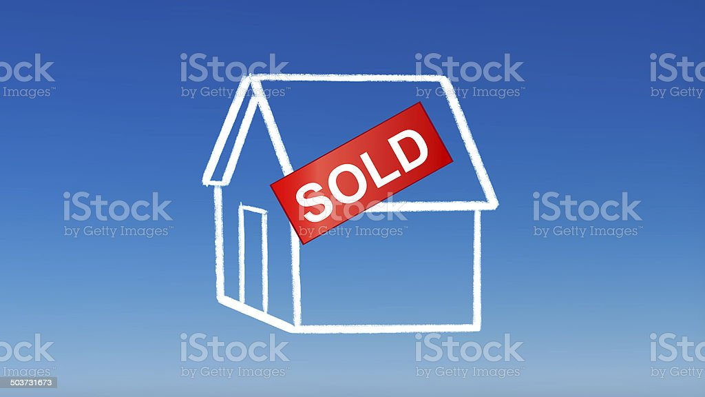 investment drawing house sold royalty-free stock photo