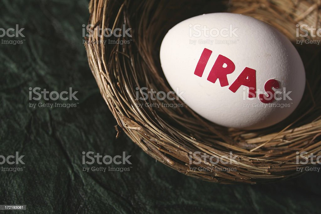 Investment egg (IRAs) royalty-free stock photo