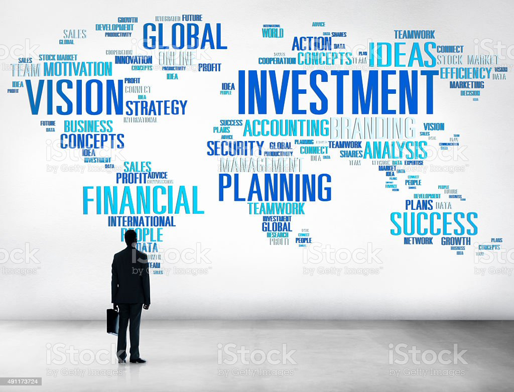 Investment Global Business Profit Banking Budget Concept stock photo