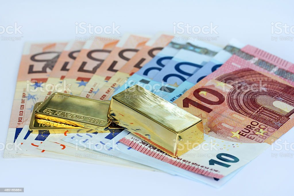 Investment in gold stock photo