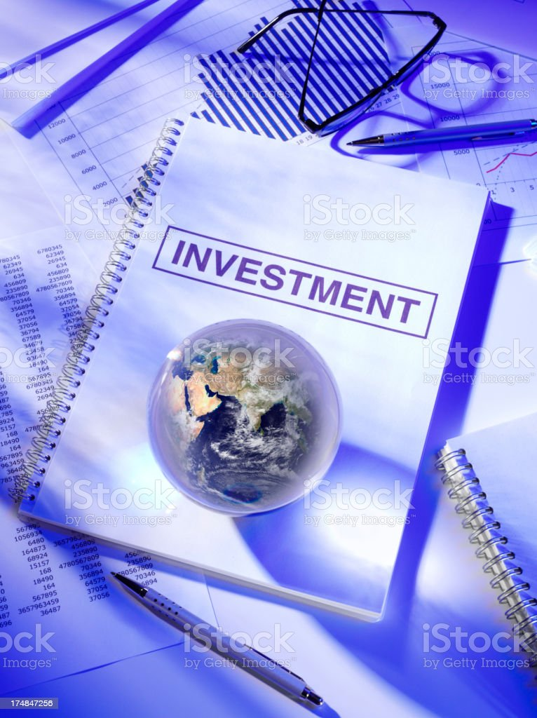 Investment on a Book in the Office royalty-free stock photo