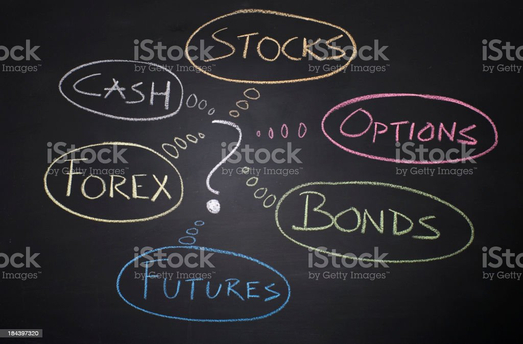 Investment options stock photo