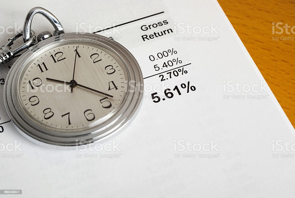 Investment Over The Long Term royalty-free stock photo