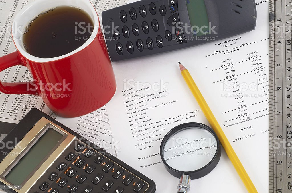 investment planning stock photo