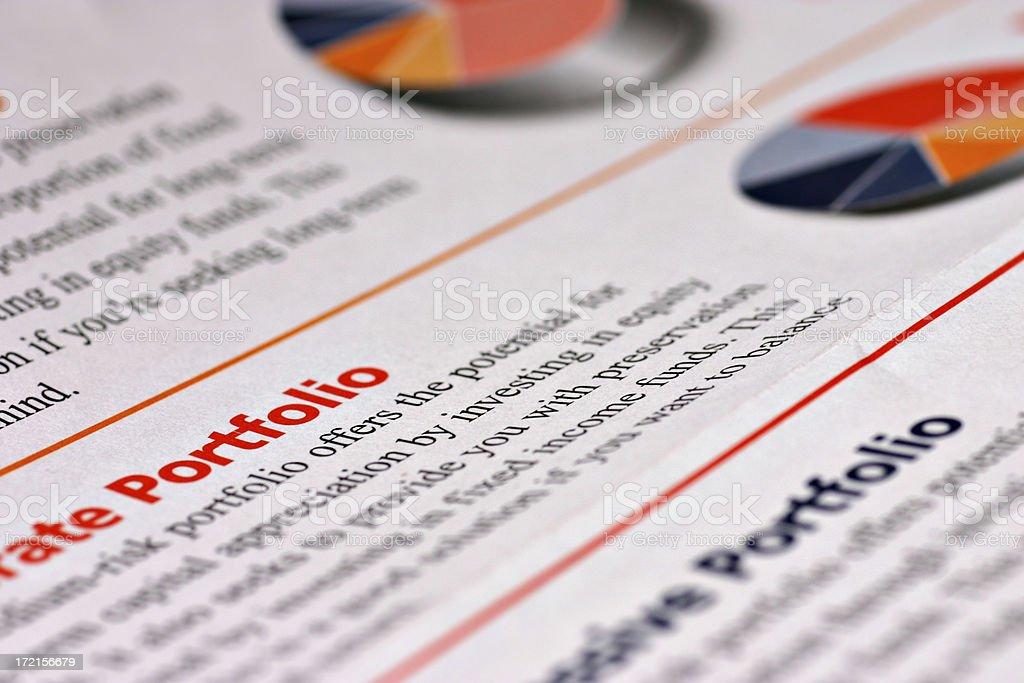Investment Portfolio stock photo