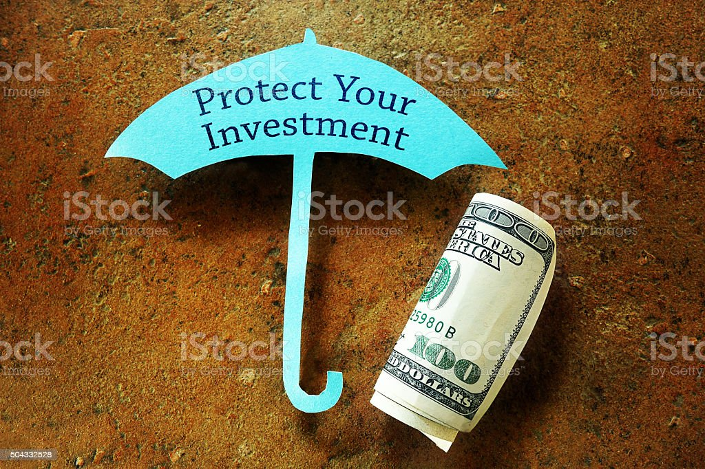 Investment protection stock photo
