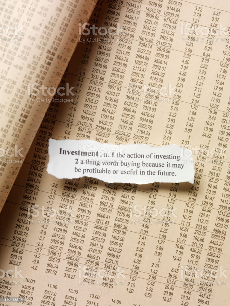 Investment Quote royalty-free stock photo