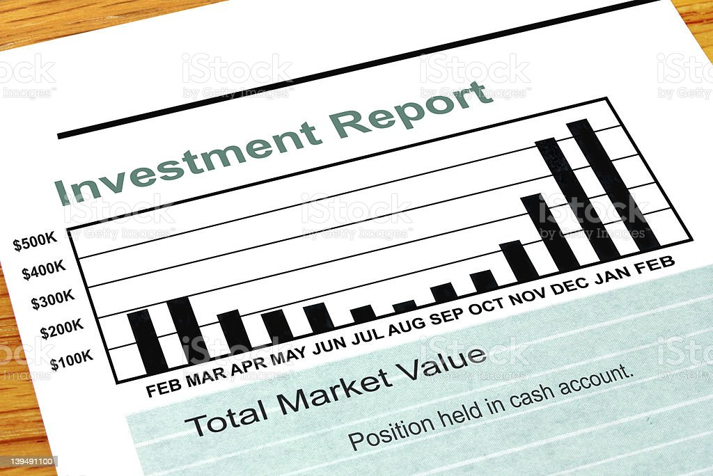 Investment Report royalty-free stock photo
