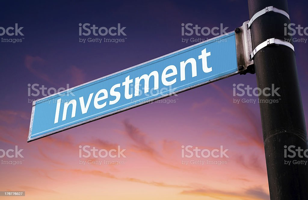 Investment Road Sign royalty-free stock photo