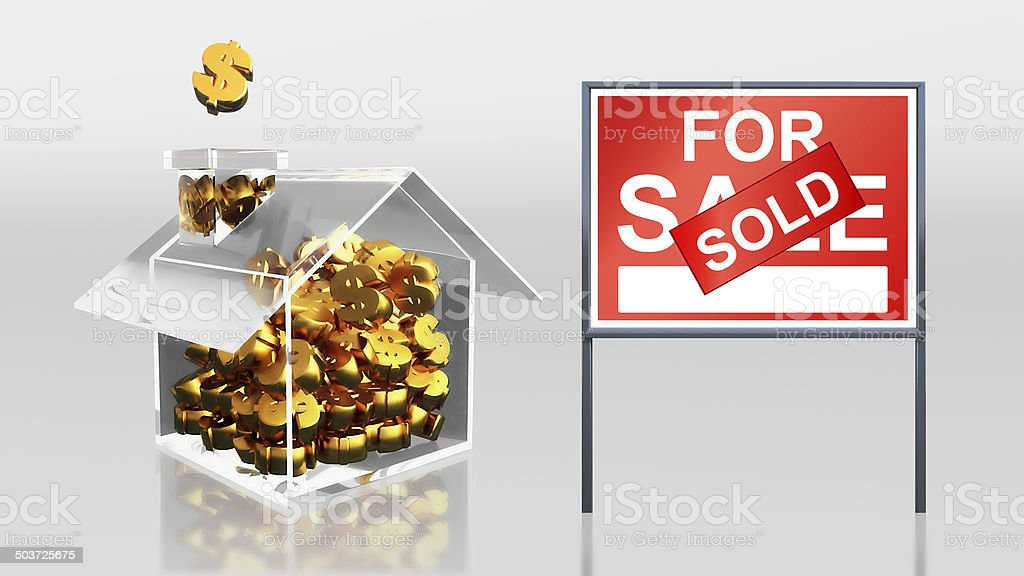 investment saving dollar for sale sold royalty-free stock photo