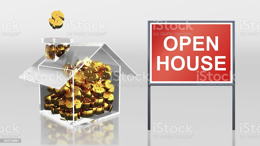investment saving dollar open house royalty-free stock photo
