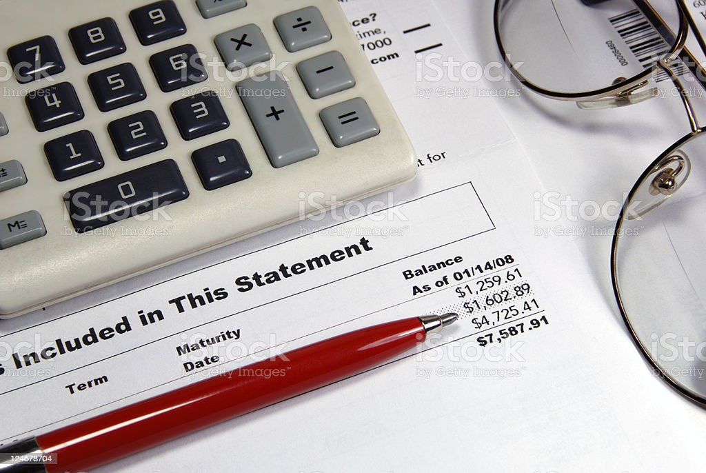 Investment Statement Closeup royalty-free stock photo