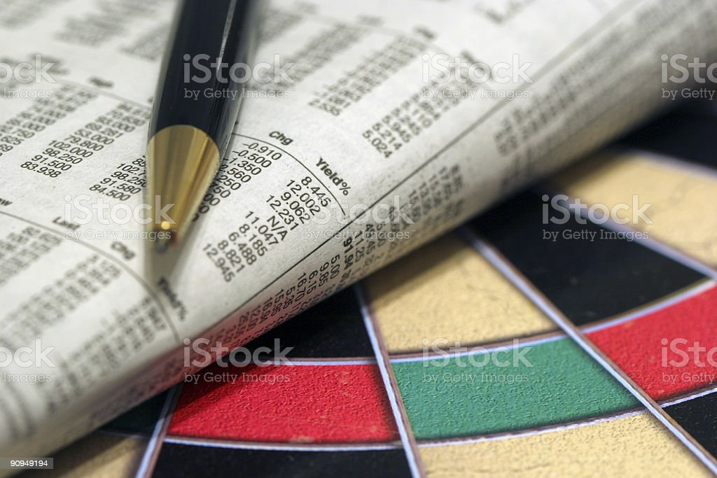 Investment target stock photo
