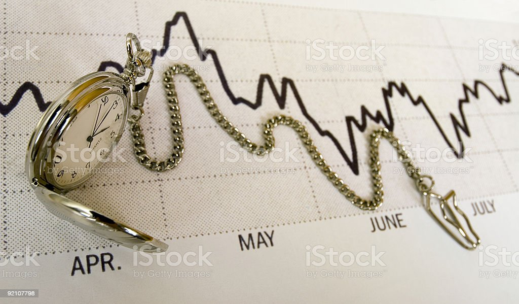 Investment Timeline stock photo