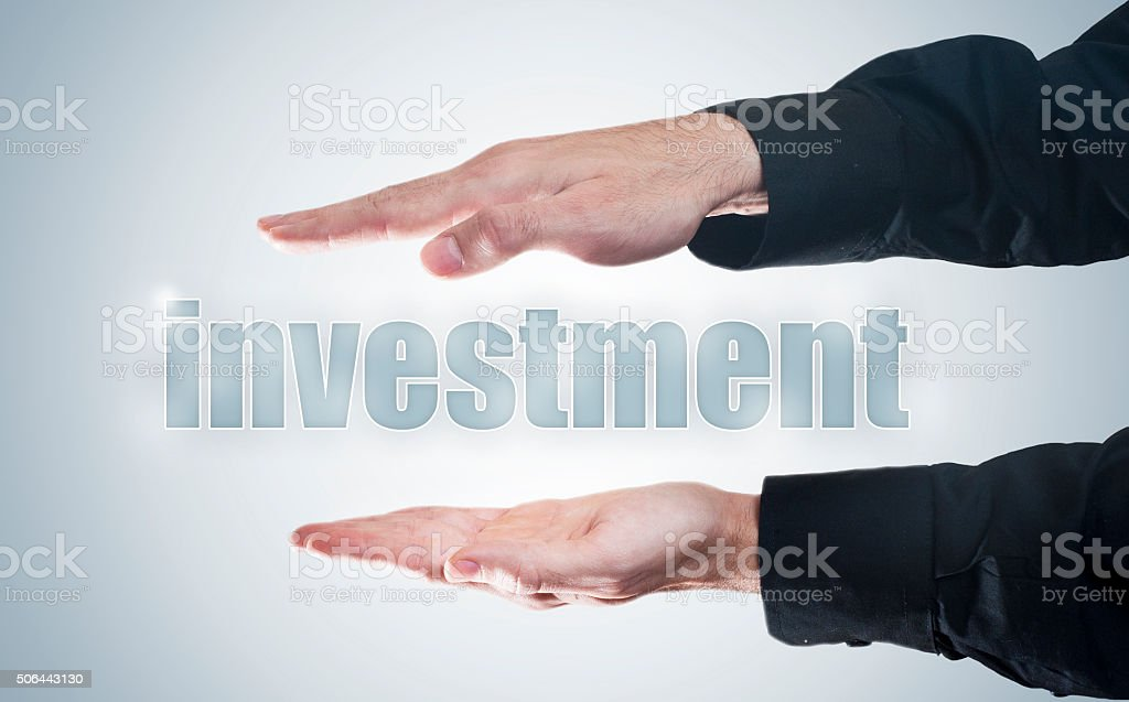 Investment  / Touch screen concept (Click for more) stock photo
