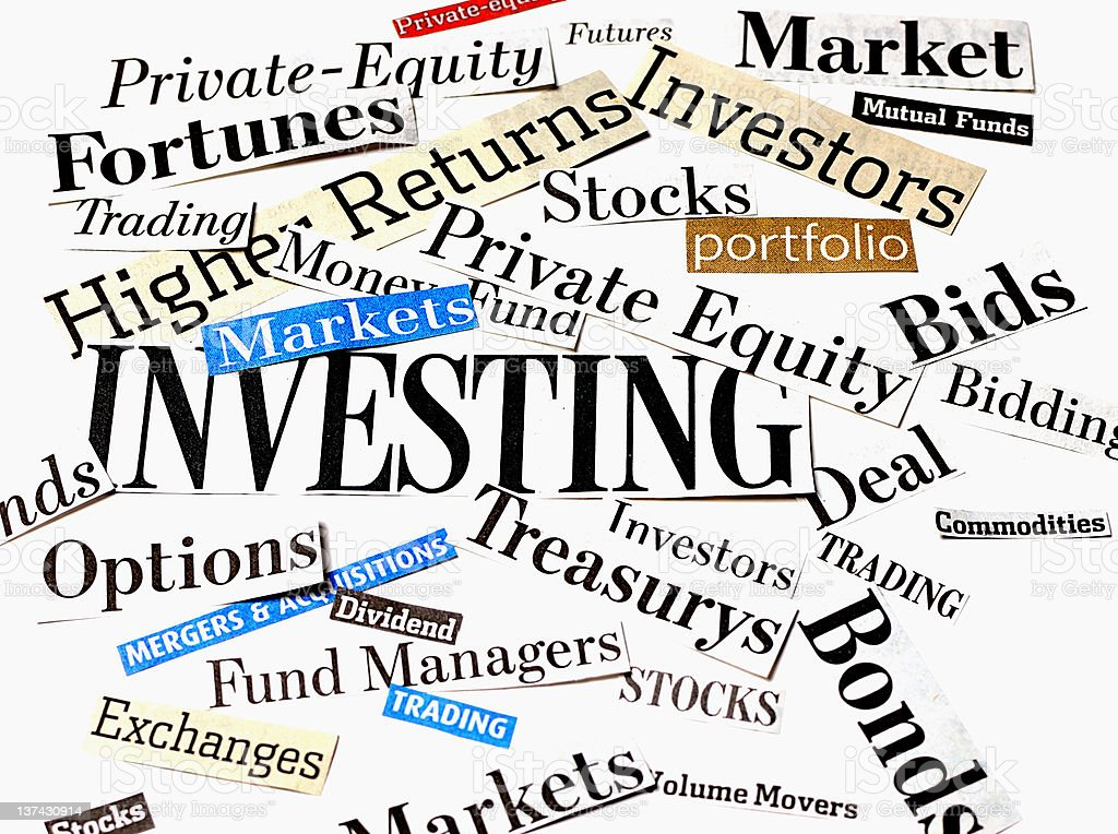 Investments and Investing stock photo