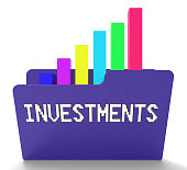 Investments File Represents Charts Graph And Chart 3d Rendering