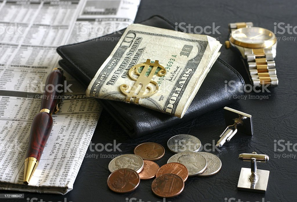 Investors Desktop stock photo