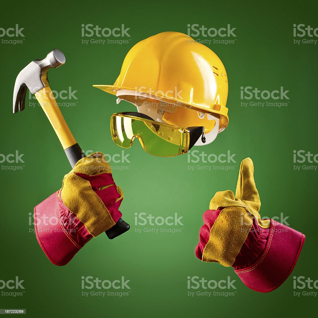 invisible builder royalty-free stock photo