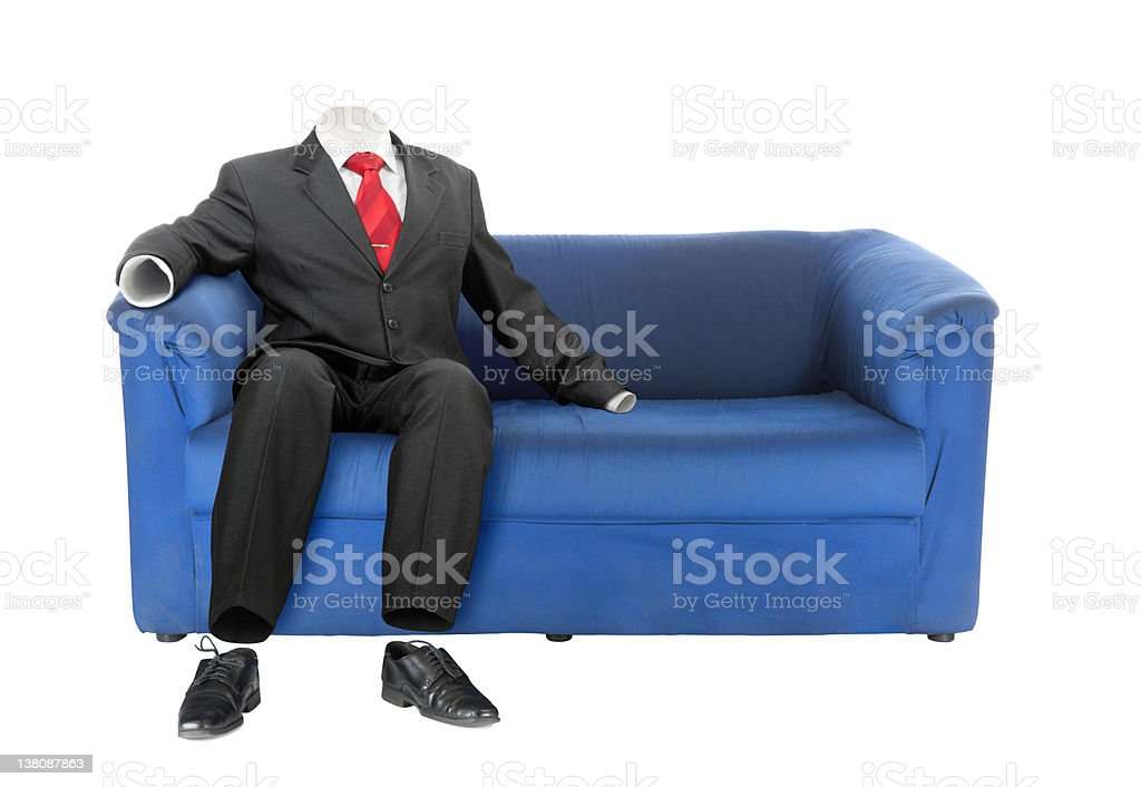 Invisible business man | Isolated royalty-free stock photo
