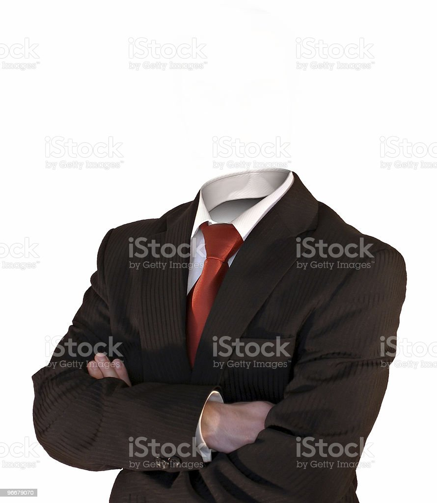 Invisible business man stock photo