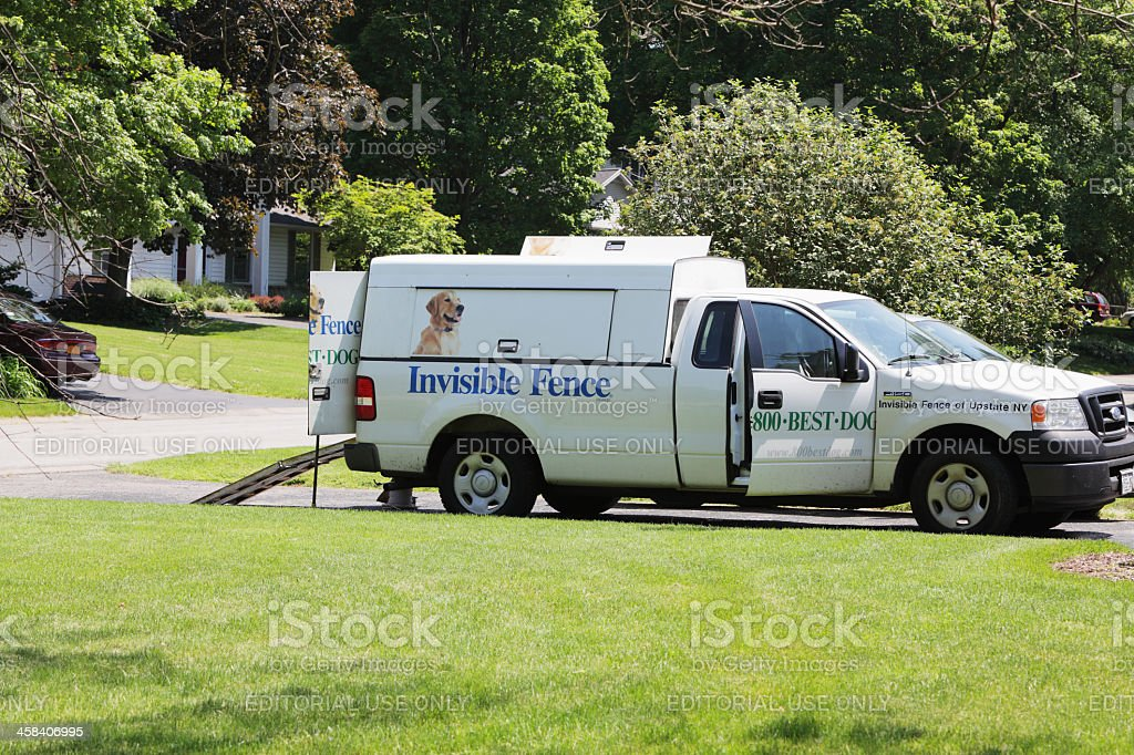 Invisible Fence Brand Installation Truck stock photo