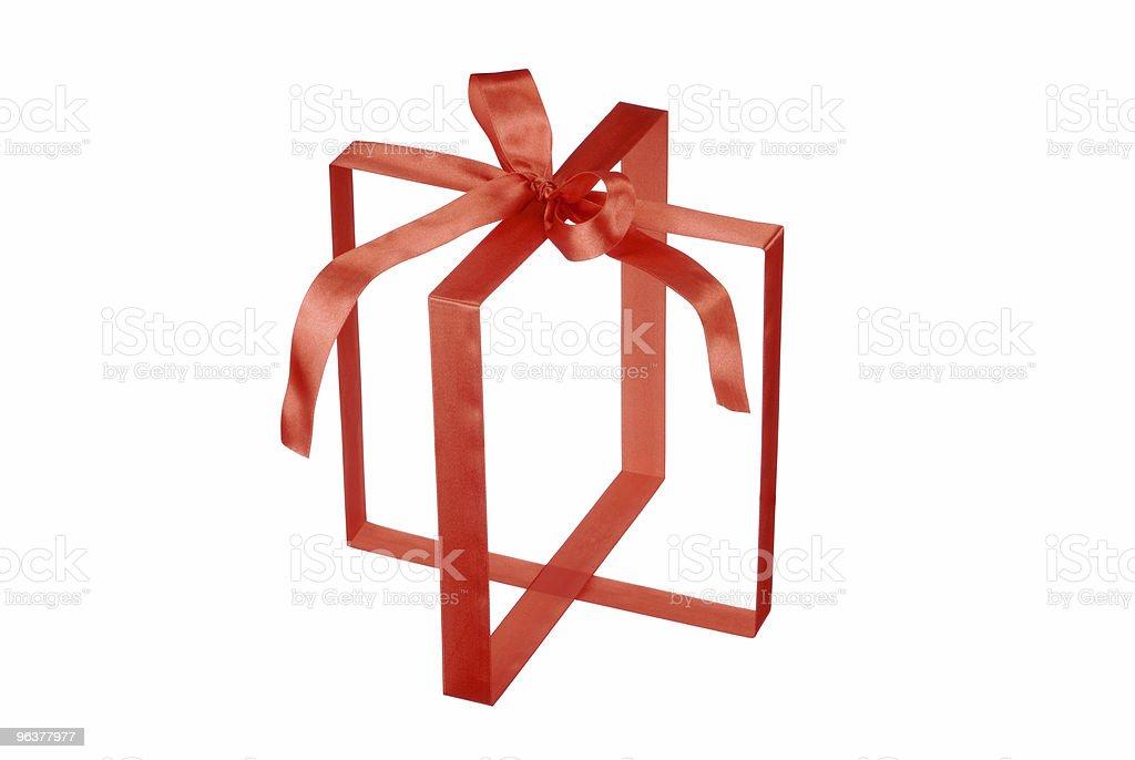 Invisible Gift Box royalty-free stock photo