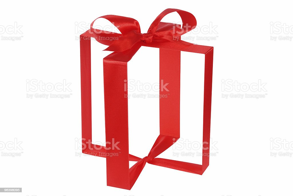 Invisible Gift Box royalty-free stock photo
