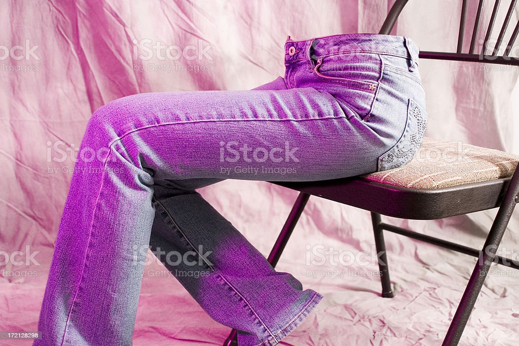 Invisible in jeans royalty-free stock photo