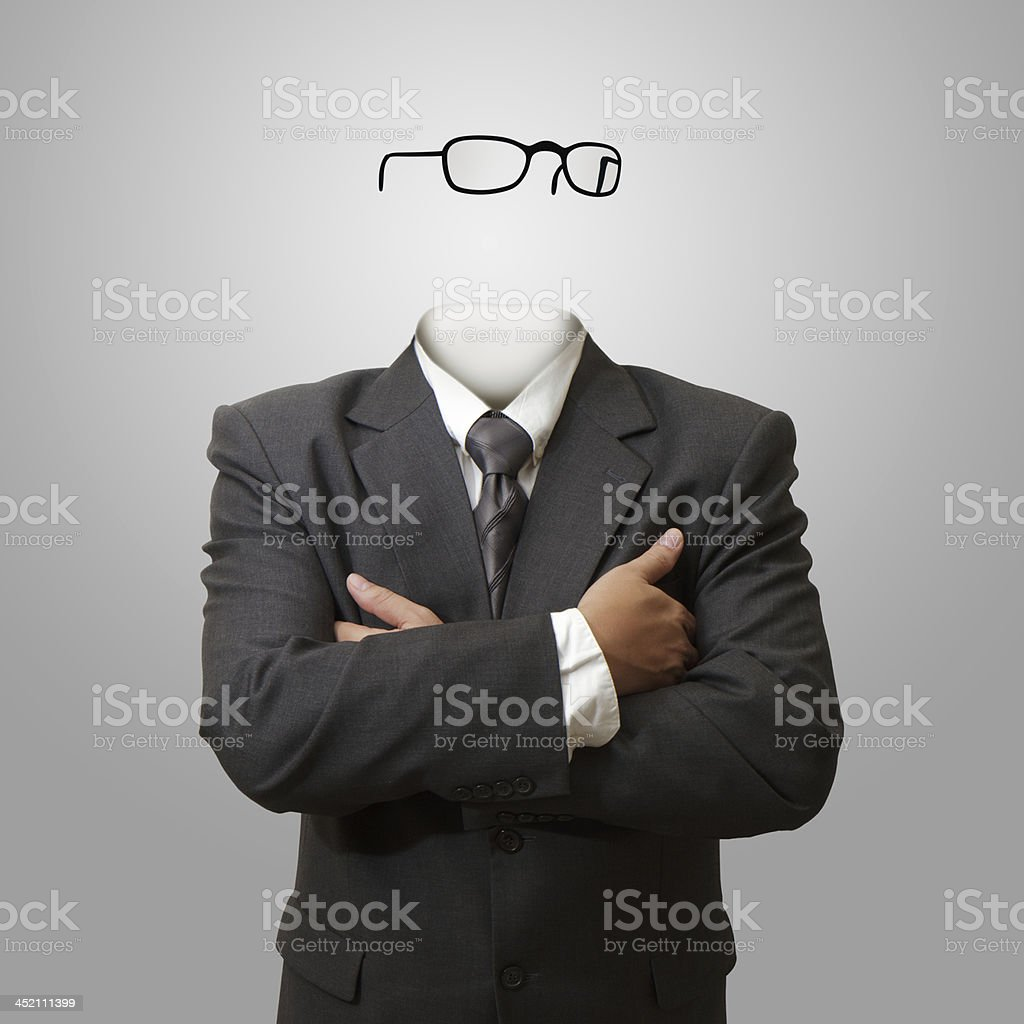 Invisible man concept stock photo