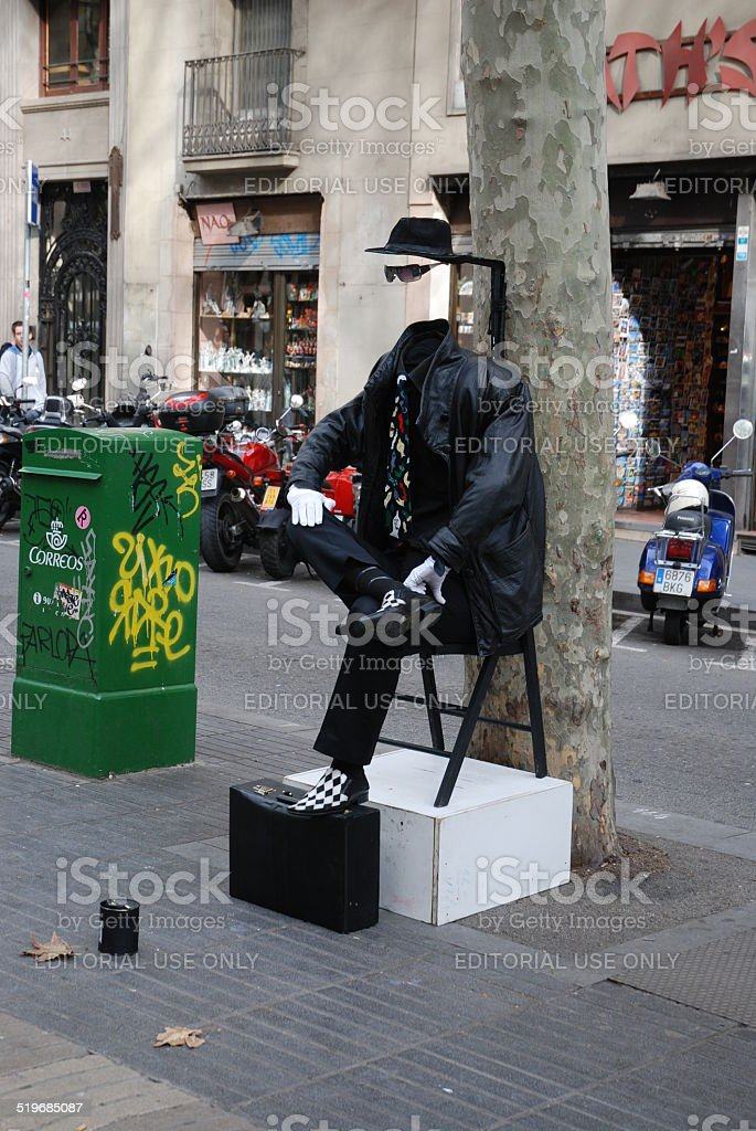 Invisible Man Living Statues royalty-free stock photo