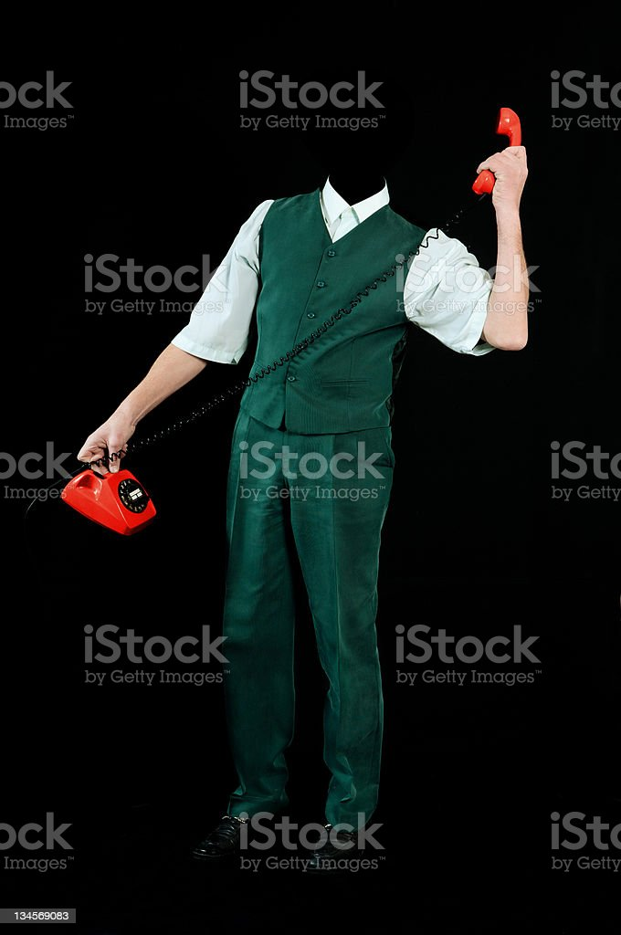 Invisible man stock photo