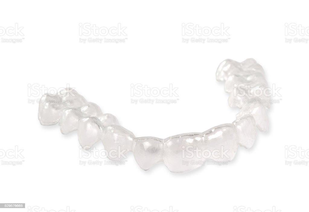 Invisible retainer, orthodontia stock photo