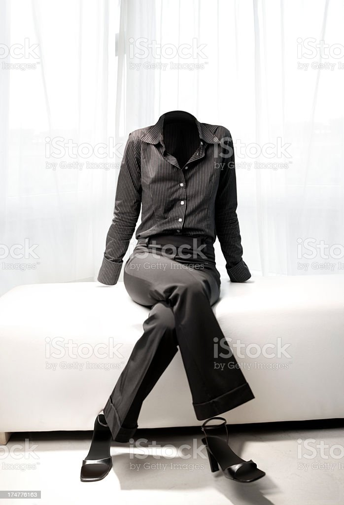 Invisible woman stock photo