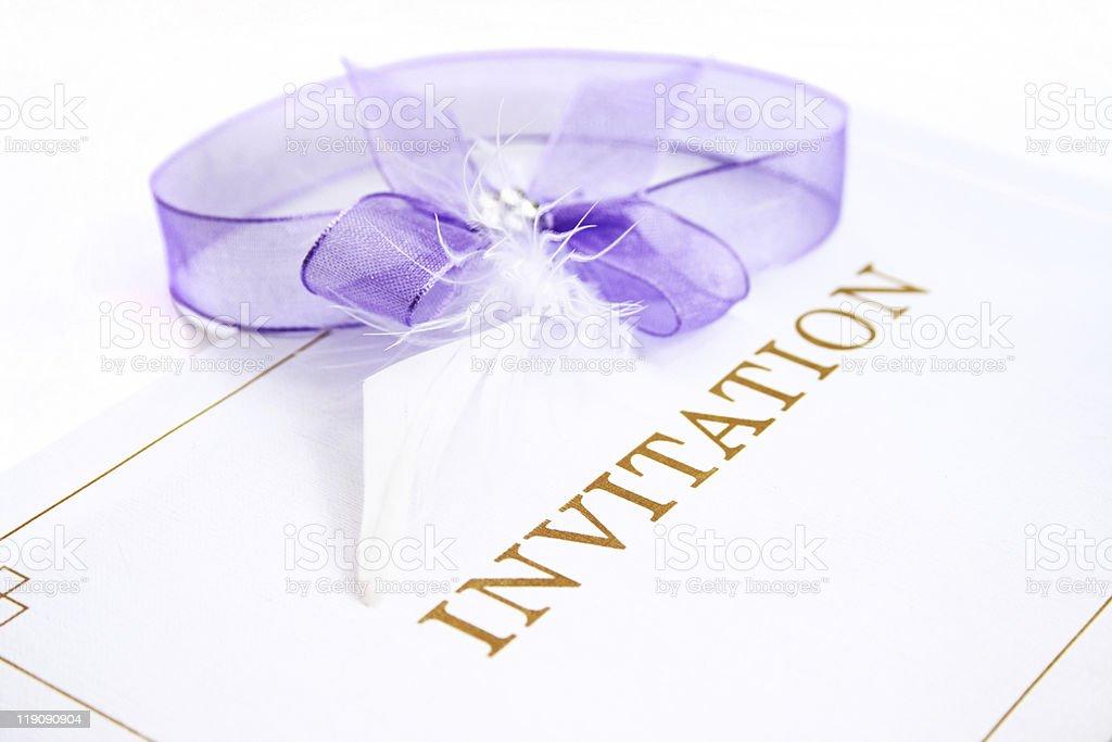 Invitation card royalty-free stock photo