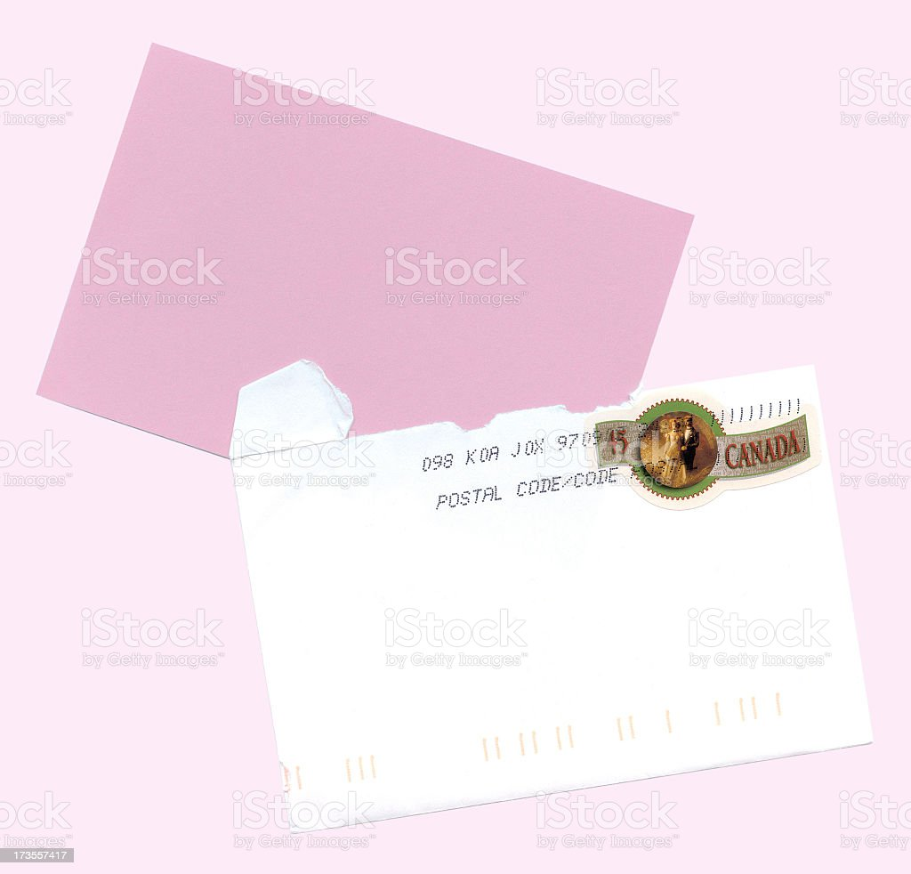 Invitation envelope royalty-free stock photo