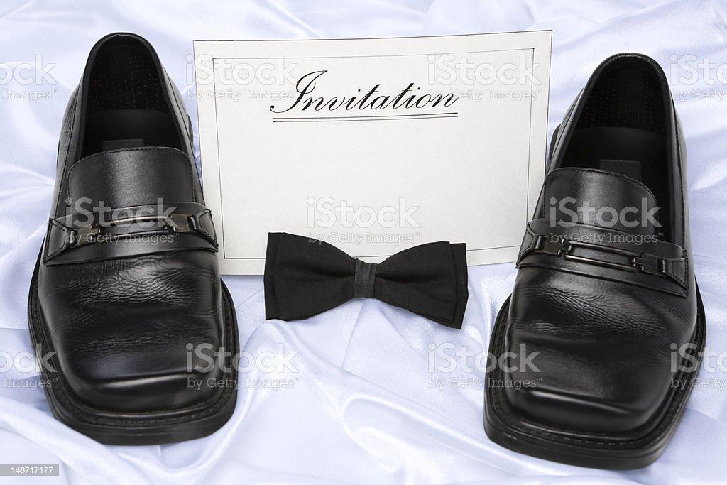 Invitation for men royalty-free stock photo
