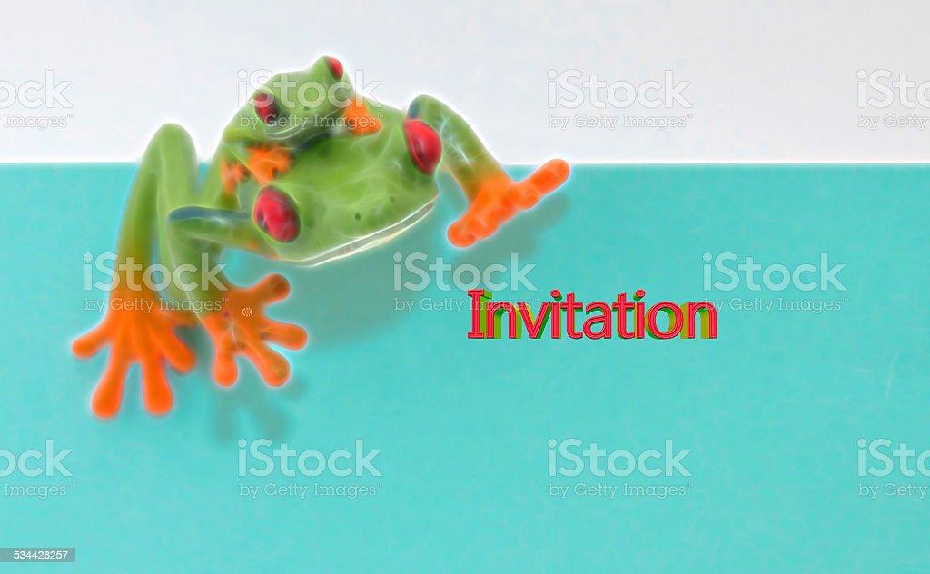 Invitation frogs stock photo