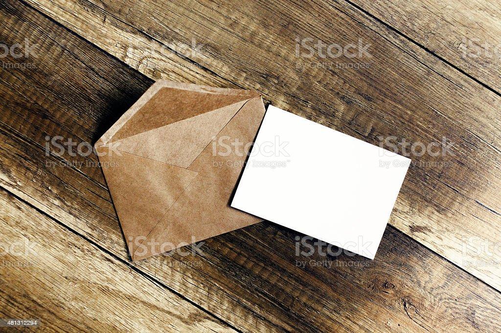 invitation in envelope stock photo