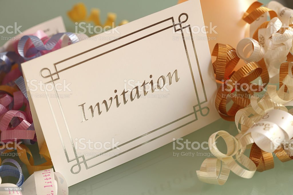 Invitation royalty-free stock photo
