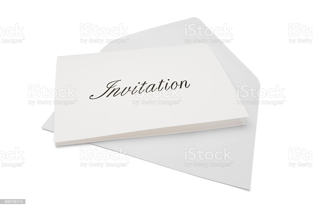 Invitation stock photo