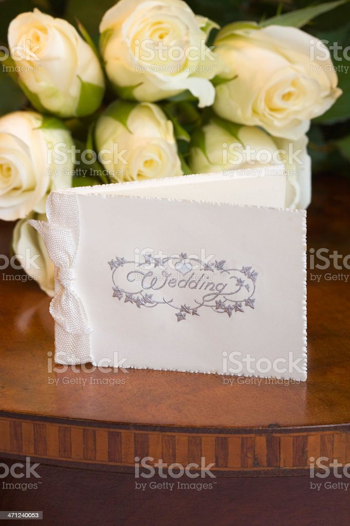 Invitation to a Wedding royalty-free stock photo