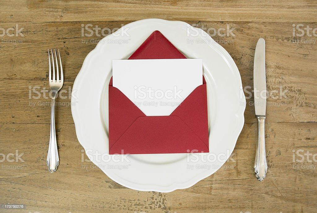Invited for dinner stock photo