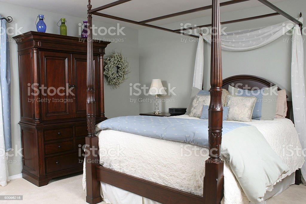 Inviting Bedroom royalty-free stock photo