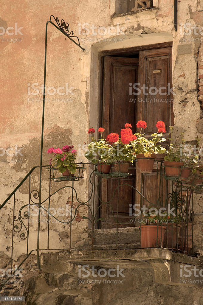 Inviting doorway in Vernazza, Italy. royalty-free stock photo
