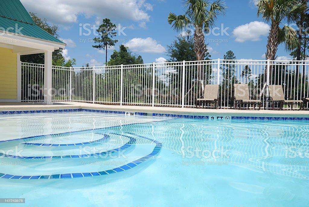Inviting pool stock photo