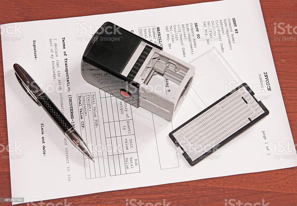 Invoice, Payment, Money Order (fiscal document) stock photo