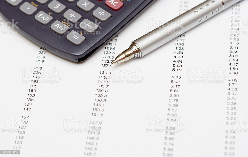 Invoice stock photo